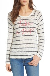 Sundry Women's Take A Trip Pullover Natural