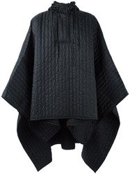 Craig Green Quilted Hooded Poncho Black