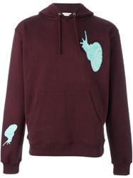 J.W.Anderson J.W. Anderson Snail Print Hoodie Pink And Purple