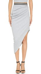 Bec And Bridge Fundamental Asymmetrical Skirt Grey
