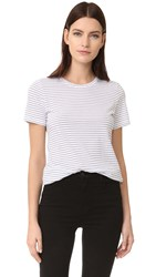 Club Monaco Leary Crew Tee Pure White Soot Black