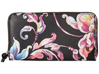 Elliott Lucca Large Zip Wallet Black Wildflower Wallet Handbags Multi