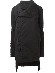Rick Owens Drkshdw Oversized Collar Padded Coat Black
