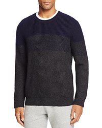 Bloomingdale's The Men's Store At Wool And Cashmere Blend Coloblock Sweater Navy Blue