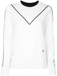 Adam By Adam Lippes Contrast Stripe Sweatshirt White