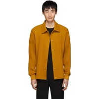 Homme Plisse Issey Miyake Yellow Pleated Shirt