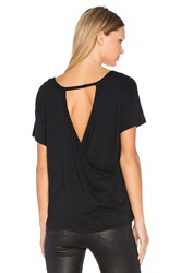 Bobi Slub Jersey Cross Back Tee Black