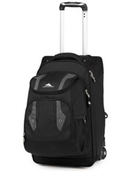 High Sierra Closeout Adventure Access Carry On Rolling Backpack Black