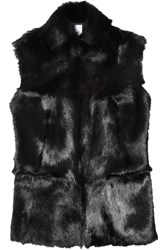 Iris And Ink Abbie Goat Hair Gilet Black