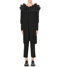 Junya Watanabe Structured Spike Wool Dress Blk