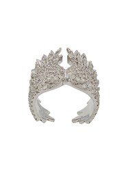 Elise Dray Embellished Ring Metallic