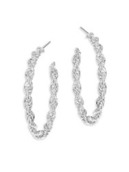 Vita Fede Nora Twisted Hoop Earrings 1.25 Silver