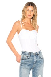 By The Way Anabelle Tie Strap Cami White