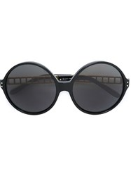 Linda Farrow Oversized Round Frame Sunglasses Black