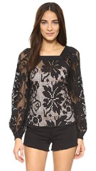 Alice Mccall Midnight Sorrento Top Black