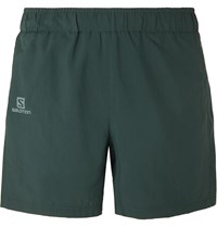 Salomon Agile 2 In 1 Mesh Panelled Shell Shorts Green