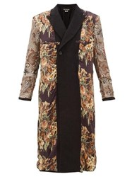 Junya Watanabe Reversible Printed Silk And Wool Coat Black Multi