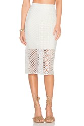 Bardot Calista Lace Skirt White