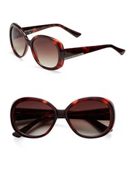 Vince Camuto 63.5Mm Round Frame Sunglasses Tortoise