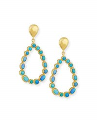 Gurhan Amulet Hue Opal Cabochon Drop Earrings