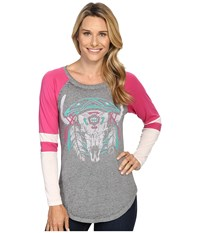 Rock And Roll Cowgirl Long Sleeve T Shirt 48T8209 Hot Pink Women's T Shirt