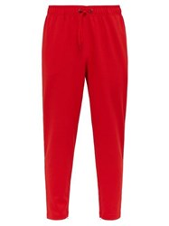Burberry Icon Striped Technical Jersey Track Pants Red