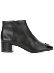 Tory Burch Logo Plaque Ankle Boots Black