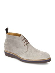 Saks Fifth Avenue Suede Lace Up Chukka Boots Grey