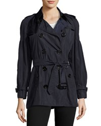 Burberry Middlemere Bell Sleeve Short Trench Coat Navy