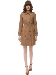 Burberry Kensington Cotton Canvas Trench Coat Warm Taupe