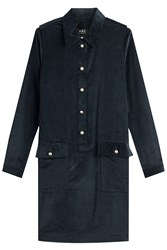A.P.C. Corduroy Dress Blue