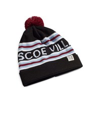 Tuck Shop Co. Roscoe Village Striped Pompom Beanie Black