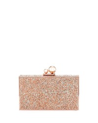 Sophia Webster Clara Crystal Box Clutch Bag Blush Crystal Roc