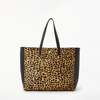 Day Birger Et Mikkelsen Must Leo Leather Shopper Bag Leopard Black