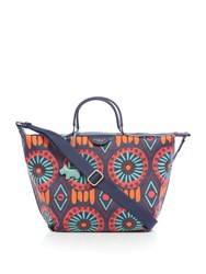 Radley Summer Tribe Medium Ziptop Multiway Bag Navy