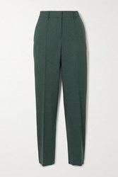 Gabriela Hearst Francisco Wool Tapered Pants Dark Green