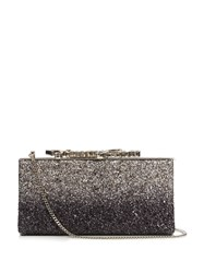 Jimmy Choo Celeste Small Glitter Clutch Silver Multi