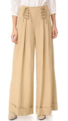 Ulla Johnson Gaucho Trousers Khaki