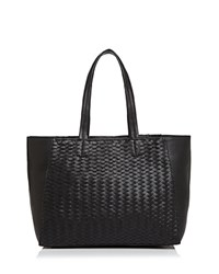 Deux Lux Baxter Woven Tote 100 Exclusive Black Gold