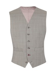 Gibson Taupe Check Marriott Vest Grey