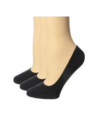 Hue Cotton Socks Liner 3 Pack Black Women's Crew Cut Socks Shoes