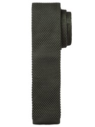 John Lewis Kin By Mercer Knitted Tie Olive