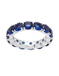 Lord And Taylor Sterling Silver Sapphire Eternity Ring