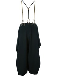 Jean Paul Gaultier Vintage Suspender Trousers Black