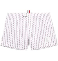 Thom Browne Printed Cotton Boxer Shorts Red