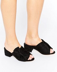 Truffle Collection Bow Mule Black Micro