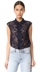 N 21 No. Lace Top Navy