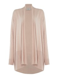Repeat Cashmere Ribbed Botton Open Cardigan Light Pink