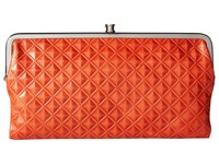 Hobo Lauren Diamond Embossed Grenadine Clutch Handbags Orange