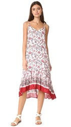 Moon River Camisole Dress Red Multi